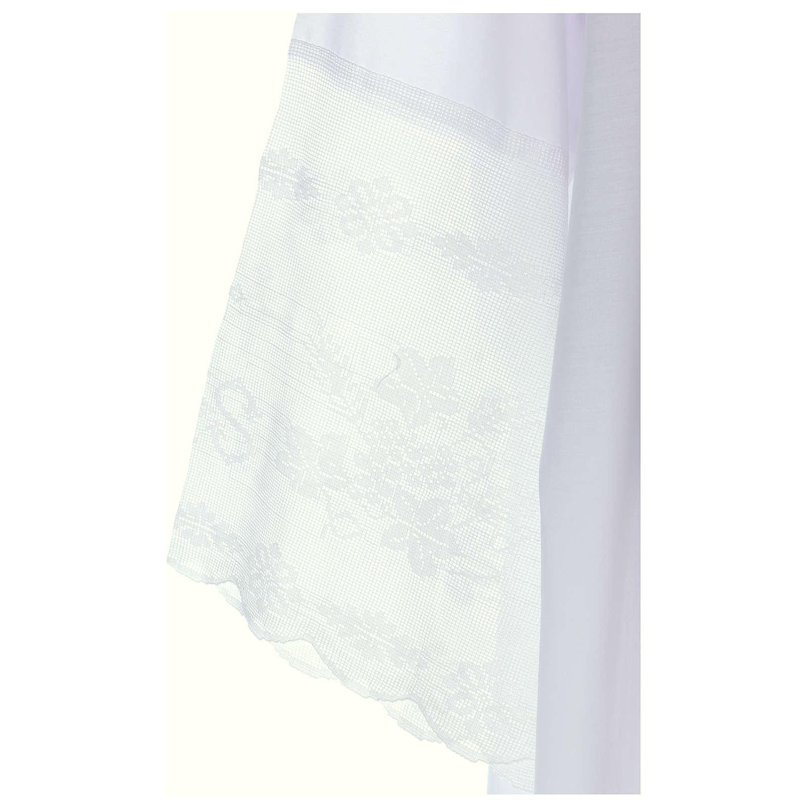 Alba tejido mixto algodón cuello cuadrado y encaje 4