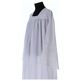 Alba tejido mixto algodón cuello cuadrado y encaje s2