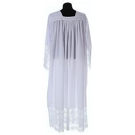 Alba tejido mixto algodón cuello cuadrado y encaje s4
