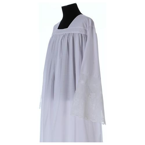 Alba tejido mixto algodón cuello cuadrado y encaje 2