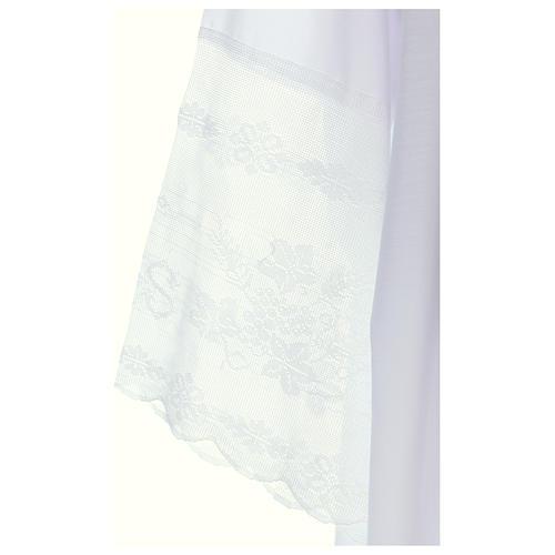 Alba tejido mixto algodón cuello cuadrado y encaje 3