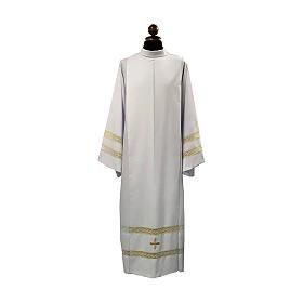 Camice tela Vaticana doppio tramezzo croce ricamata s1