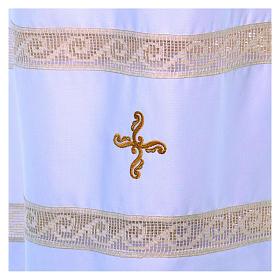 Camice tela Vaticana doppio tramezzo croce ricamata s3