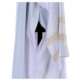 Camice tela Vaticana doppio tramezzo croce ricamata s4