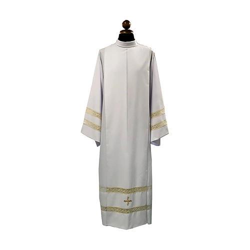 Camice tela Vaticana doppio tramezzo croce ricamata 1