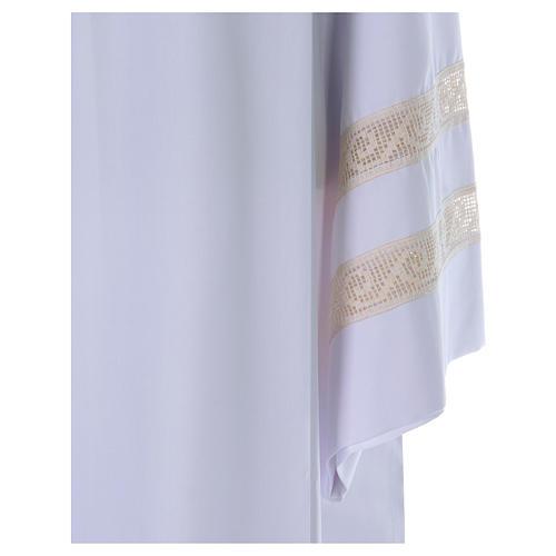 Camice tela Vaticana doppio tramezzo croce ricamata 2