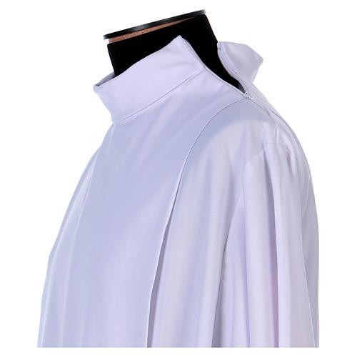Camice tela Vaticana doppio tramezzo croce ricamata 5