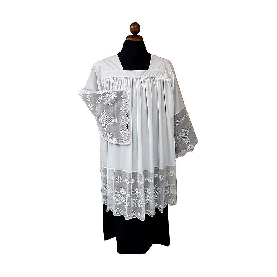 Surplice with goffer and chrochet IHS 4