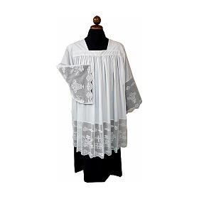 Surplice with goffer and chrochet IHS s1
