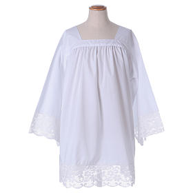 Surplice for altar boy with flowery crochet s1