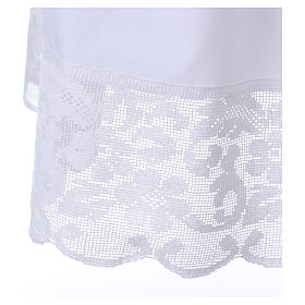 Surplice for altar boy with flowery crochet s4