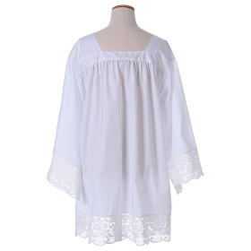 Surplice for altar boy with flowery crochet s5