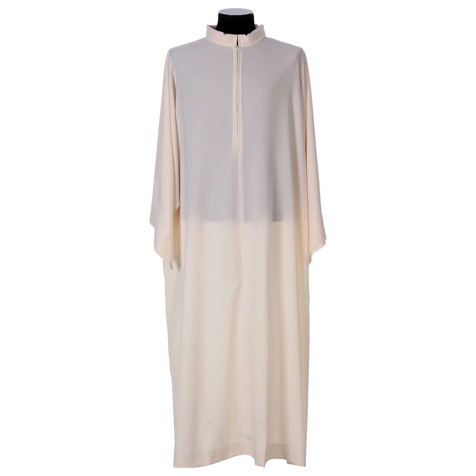 Surplice with turned up neck, flared, ivory colour light model 4
