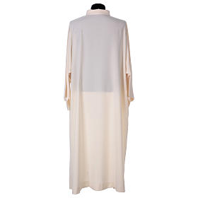 Surplice with turned up neck, flared, ivory colour light model s4