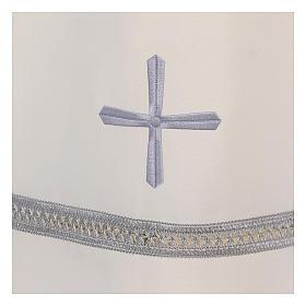 Alba poliester zamek z przodu kość słoniowa koronka hafty maszynowe s3