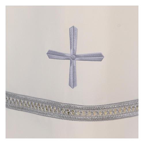 Alba poliester zamek z przodu kość słoniowa koronka hafty maszynowe 3