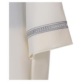 Aube polyester fermeture épaule ivoire ourlet à jour broderies machine s3