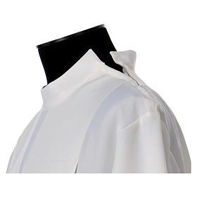 Aube polyester fermeture épaule ivoire ourlet à jour broderies machine s6