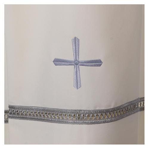 Aube polyester fermeture épaule ivoire ourlet à jour broderies machine 2