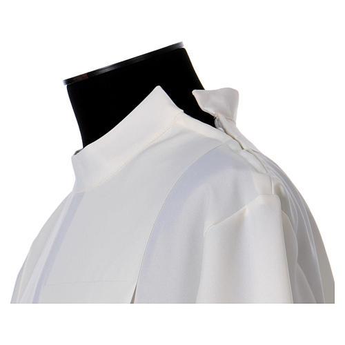 Aube polyester fermeture épaule ivoire ourlet à jour broderies machine 6