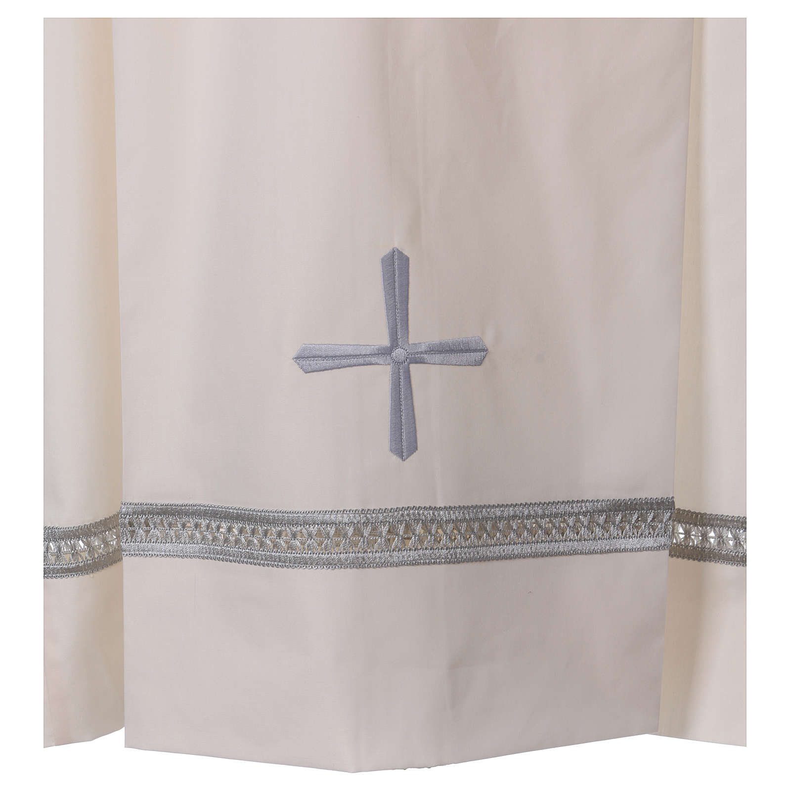 Alba algodón mixto cremallera hombro marfil alfiletero bordados con máquina 4
