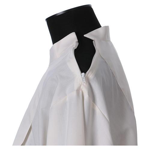 Alba algodón mixto cremallera hombro marfil alfiletero bordados con máquina 5