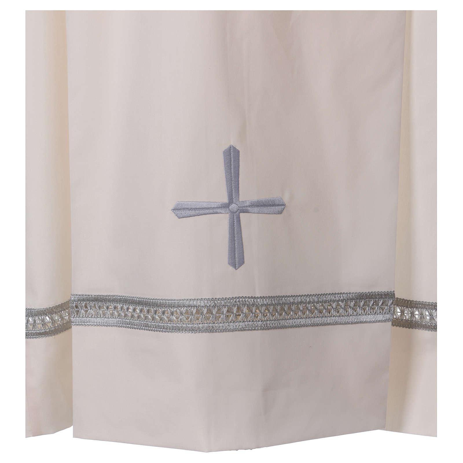Camice misto cotone cerniera spalla avorio gigliuccio ricami a macchina 4