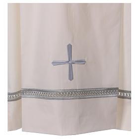 Camice misto cotone cerniera spalla avorio gigliuccio ricami a macchina s2