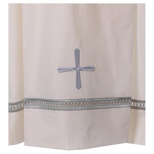 Camice misto cotone cerniera spalla avorio gigliuccio ricami a macchina 2