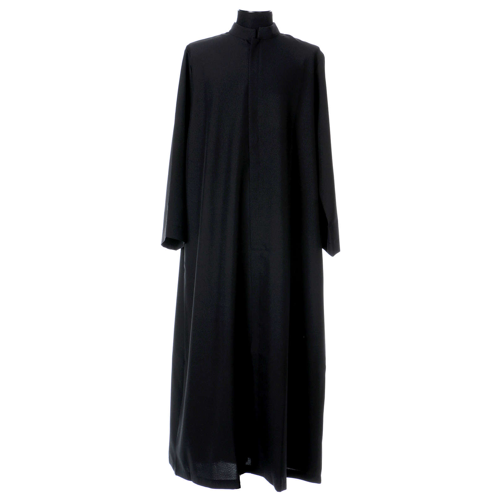 Black cassock with concealed zipper 4