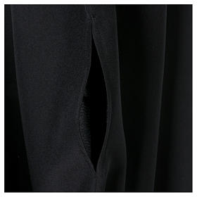 Black cassock with concealed zipper s5