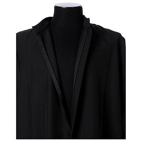 Black cassock with concealed zipper s6