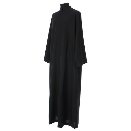 Black cassock with concealed zipper 2