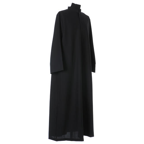 Black cassock with concealed zipper 3
