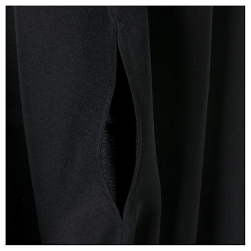 Black cassock with concealed zipper 5