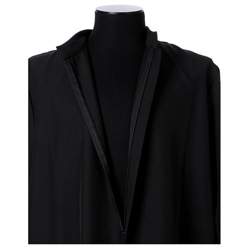 Black cassock with concealed zipper 6