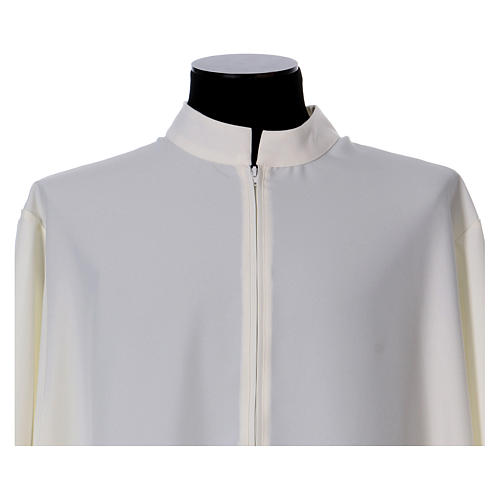 Alb 100% polyester flared with stand-up collar and ears of wheat embroidery 4