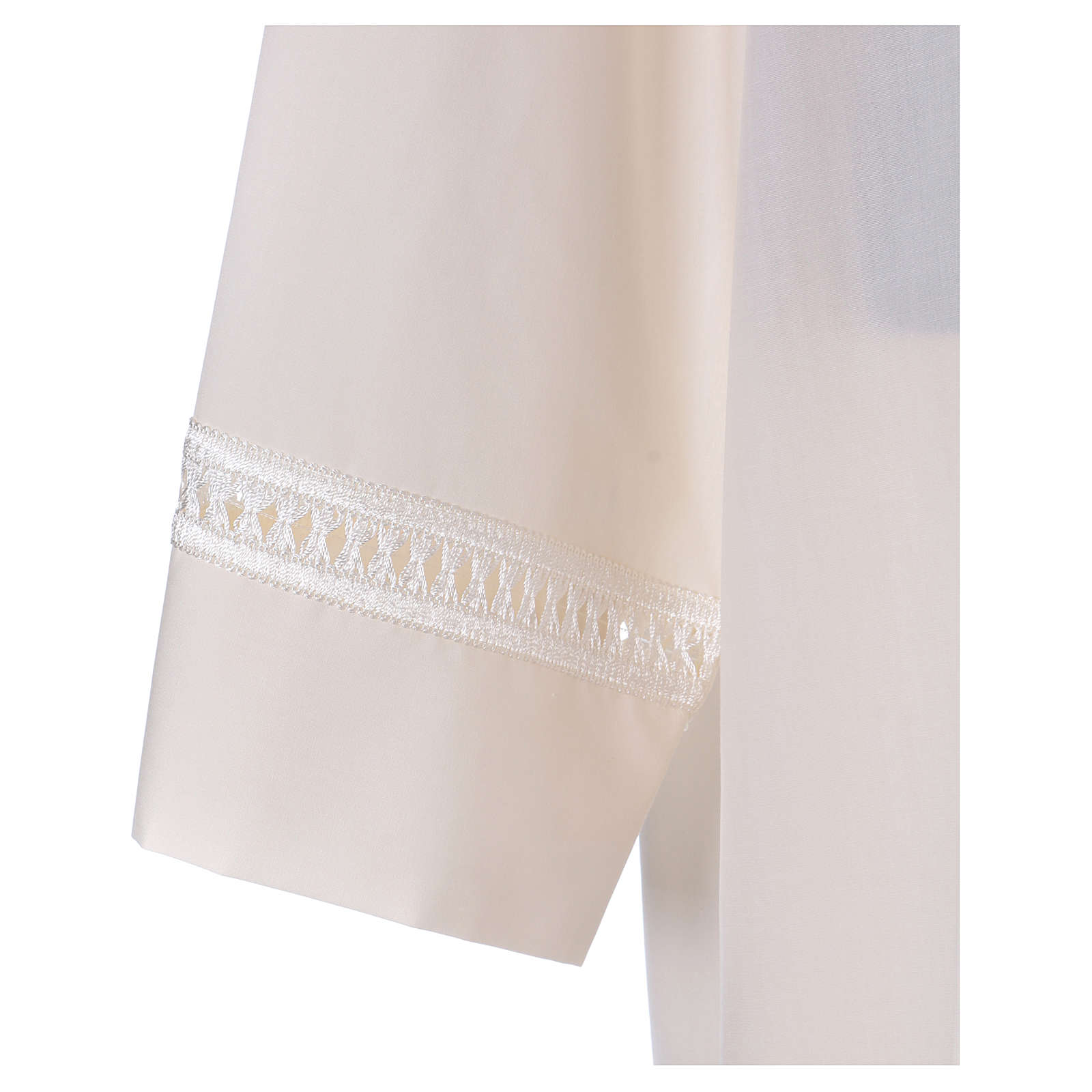 Alba 65% poliéster 35% algodón marfil alfiletero cremallera hombro 4