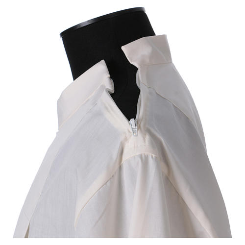 Alba 65% poliéster 35% algodón marfil alfiletero cremallera hombro 5