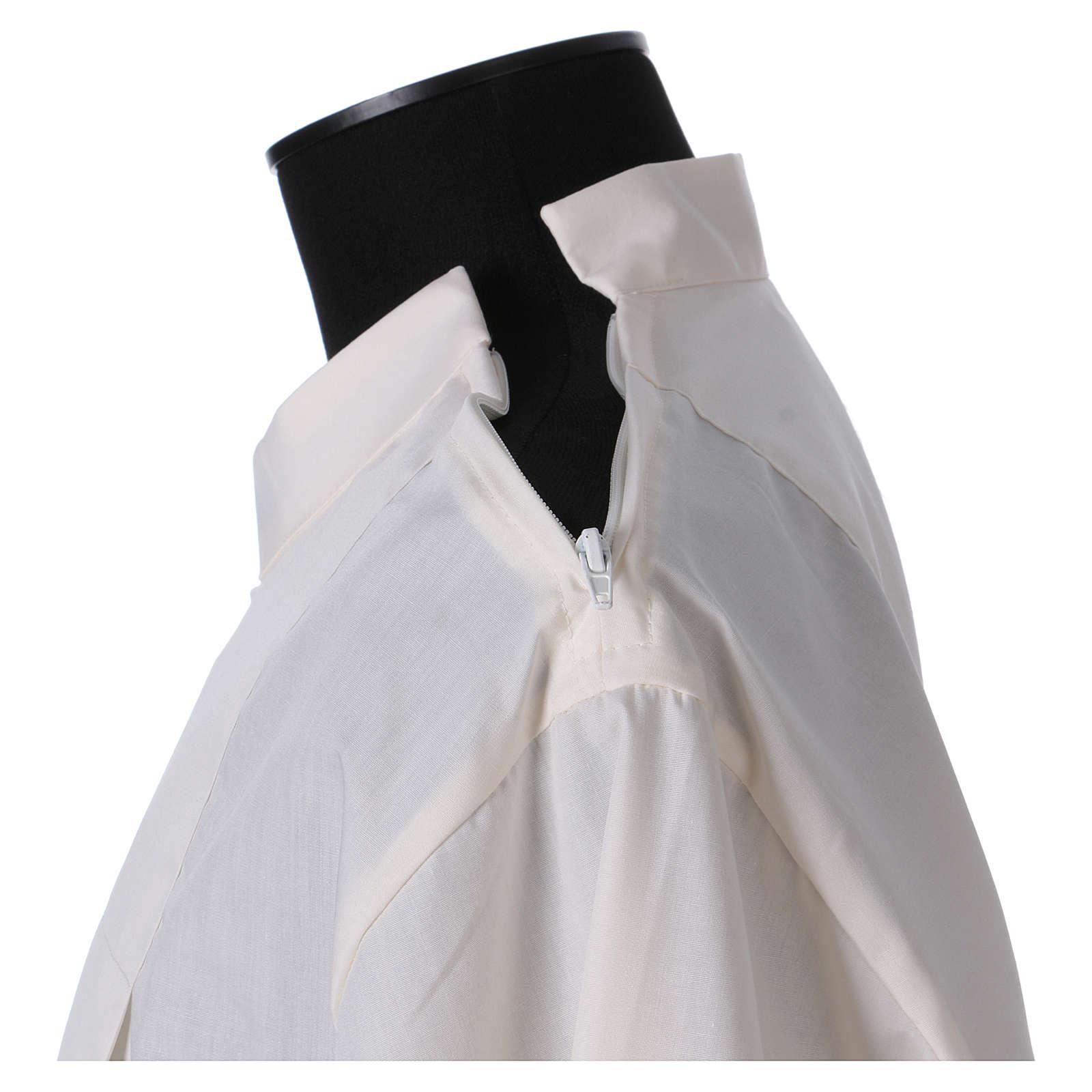 Aube 65% polyester 35% coton ivoire ourlet à jour fermeture éclair épaule 4