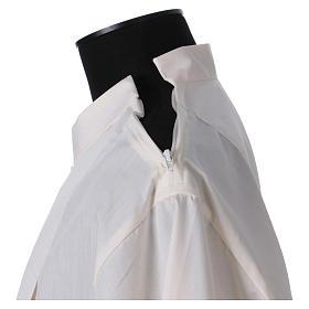 Aube 65% polyester 35% coton ivoire ourlet à jour fermeture éclair épaule s5