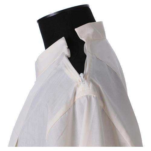 Aube 65% polyester 35% coton ivoire ourlet à jour fermeture éclair épaule 5
