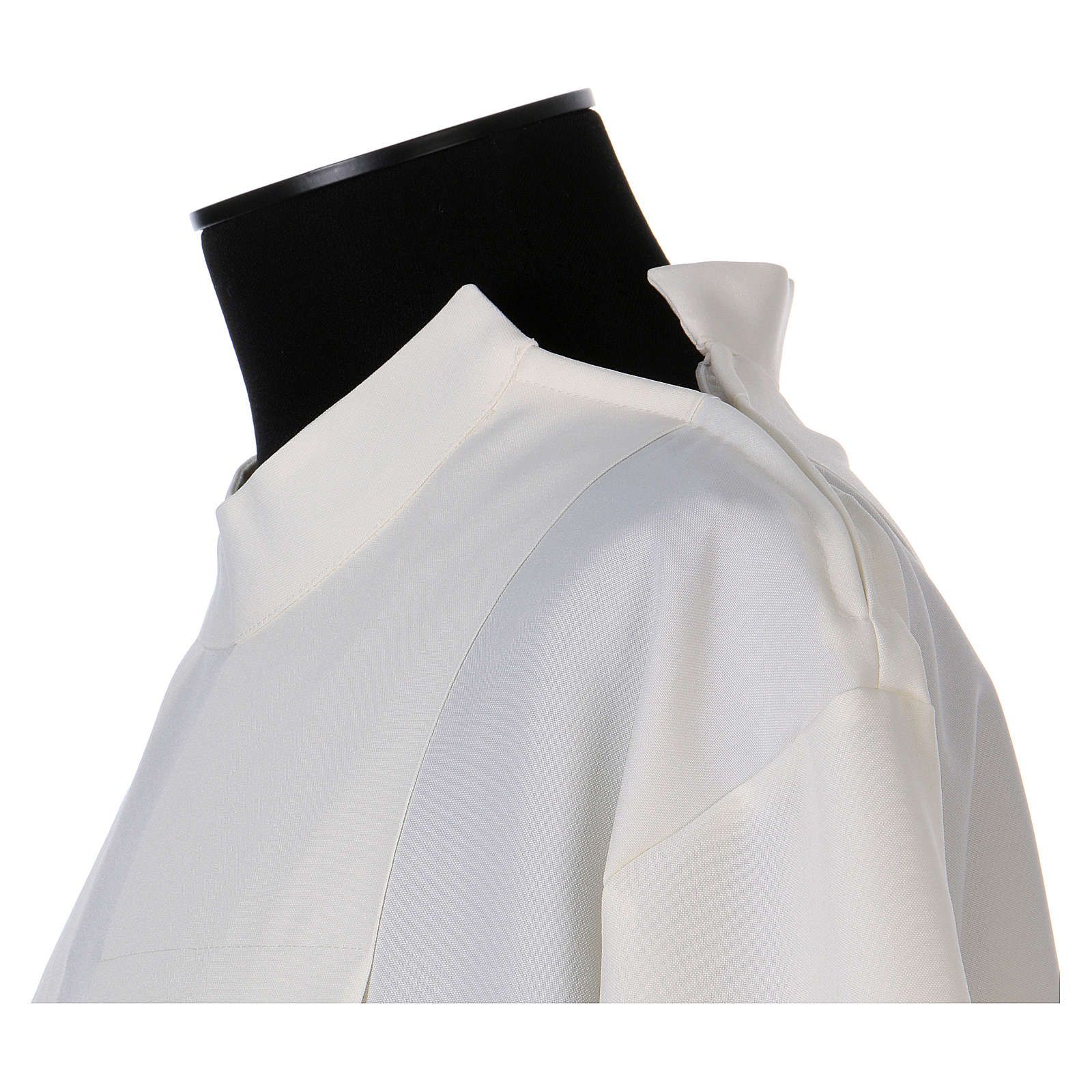 Alb 100% polyester ivory colour with peahole stitch and zip on shoulder 4