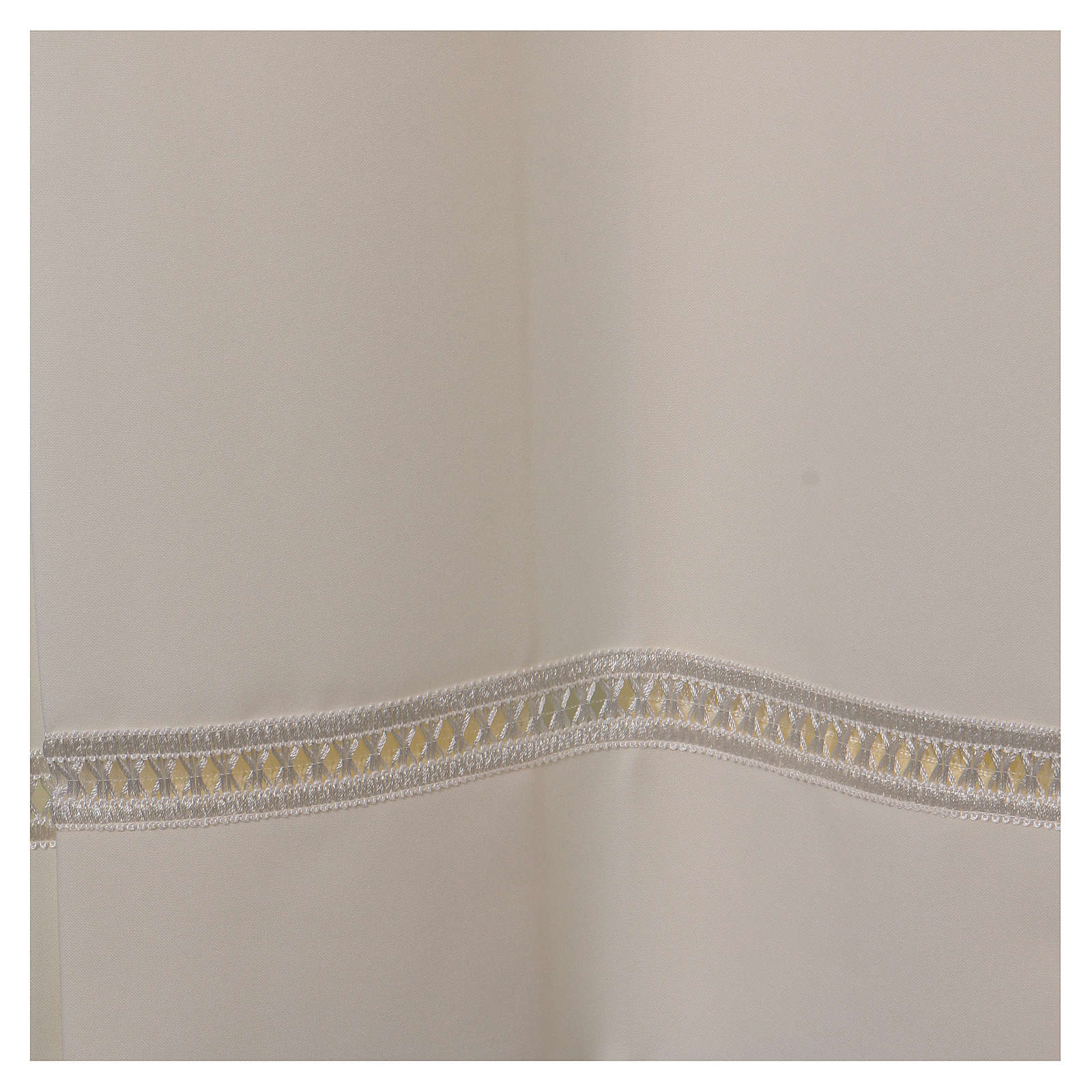 Aube 100% polyester ivoire ourlet à jour fermeture éclair épaule 4