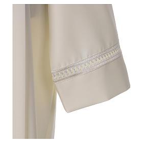 Aube 100% polyester ivoire ourlet à jour fermeture éclair épaule s3