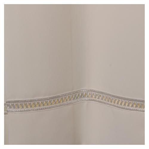 Aube 100% polyester ivoire ourlet à jour fermeture éclair épaule 2