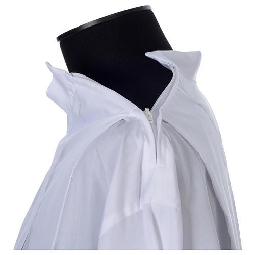 Camice bianco 100% pol. grano e croci cerniera spalla 4 piegoni 5