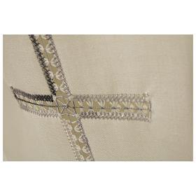 Camice avorio 55% pol. 45% lana gigliuccio croce RICAMO MANO cerniera davanti s2