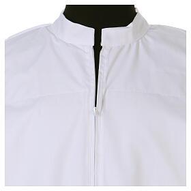 Alva branca 65% poliéster 35% algodão renda fecho de correr  na frente s4