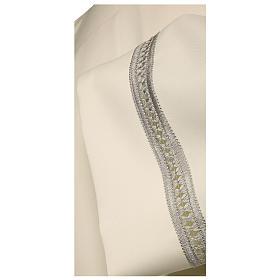 Alba 65% poliester 35% bawełna kość słoniowa koronka srebrna maszynowa zamek na ramieniu s2